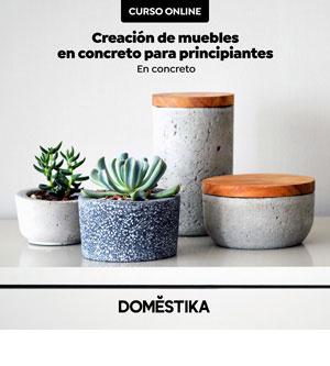 Curso Creación de muebles y objetos en concreto para principiantes