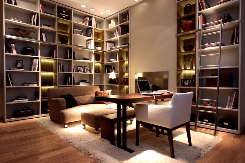 Dise o espacio n 18 sala de lectura por judith babour casa foa 2009 - Cursos de diseno de interiores gratis ...