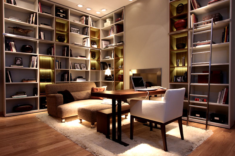 Dise o espacio n 18 sala de lectura por judith babour casa foa 2009 - Estudios de interiorismo y decoracion ...