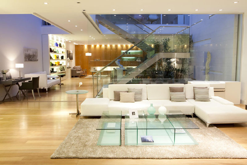Dise o apertura de live in showroom for Muebles aldama