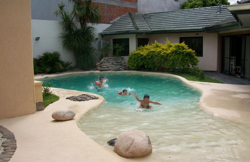 Dise o piscinas de arena la playa for Diseno de piscinas con toboganes