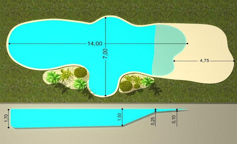 Dise o piscinas de arena la playa for Como construir piletas de material