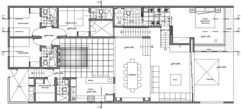 Proyecto casa de playa playa las for Plantas arquitectonicas de casas