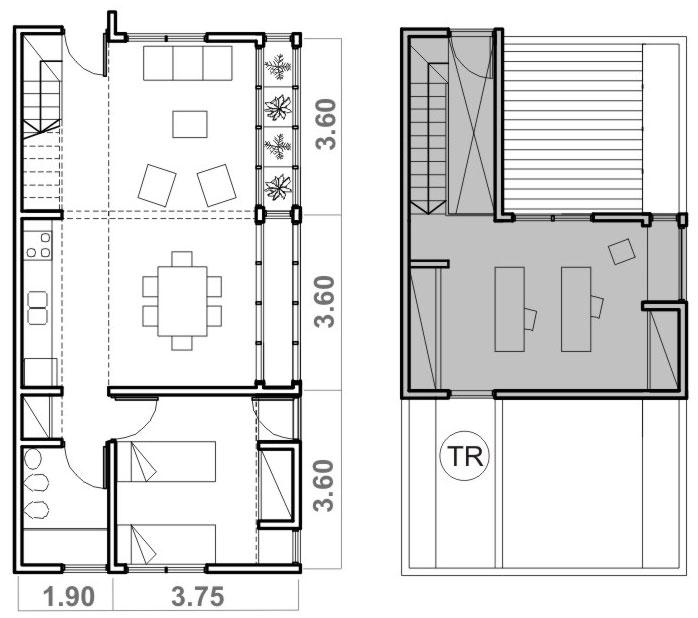 Proyecto m dulos de viviendas for Medidas minimas de una casa
