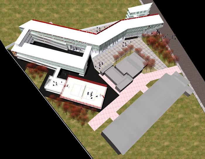 Proyecto proyecto preparatoria de la for Plantas de colegios arquitectura