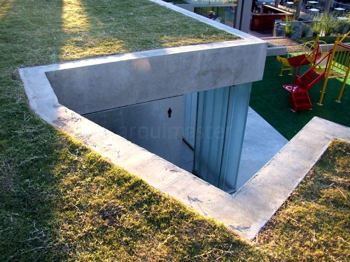Iluminacion Para Baños Rosario:Public Park Restroom Design