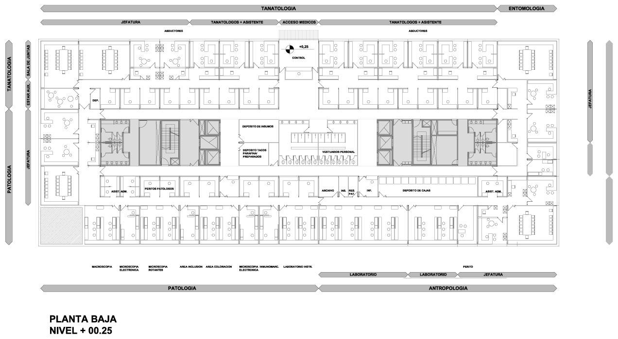 Proyecto proyecto sede del instituto for Plantas de oficinas arquitectura
