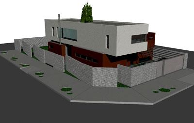 Proyecto casa rc castelar buenos for Disenos de casas en esquinas