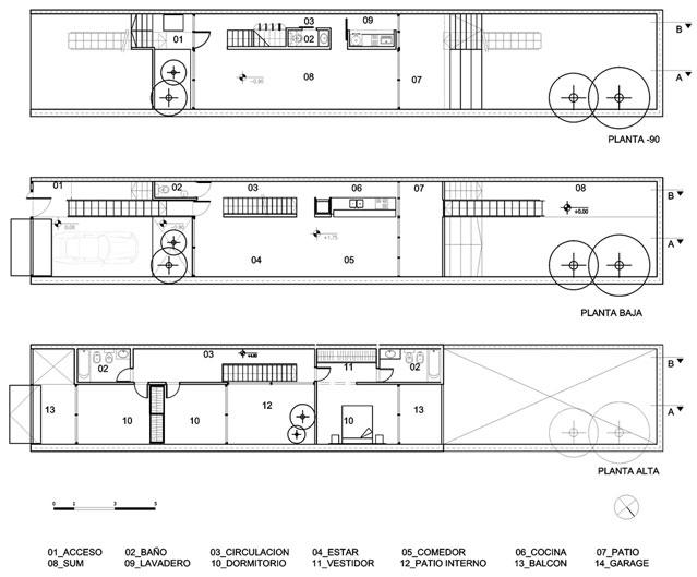 planos de casas 5 x 30