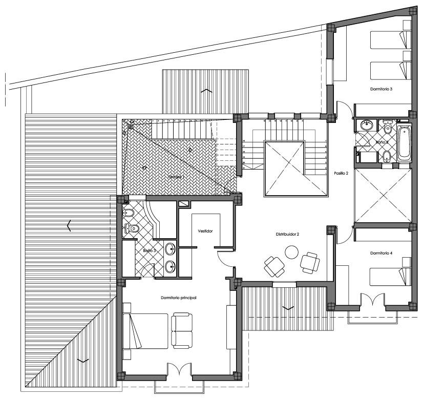 Proyecto casa g m bollullos de la for Plantas de oficinas arquitectura