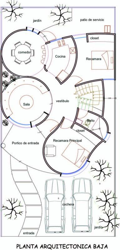 Proyecto casa habitaci n de for Plantas arquitectonicas de casas