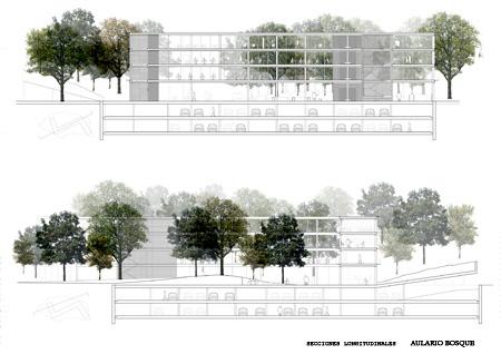 Proyecto proyecto para centro de for Arquitectura nota de corte