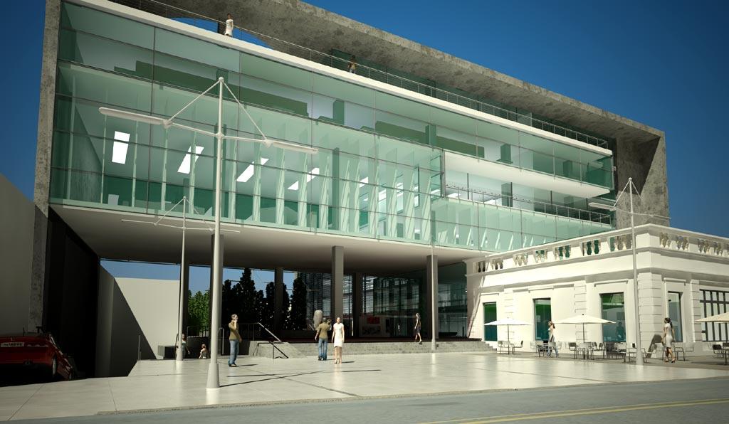 Proyecto proyecto centro cultural y for Aulas web arquitectura