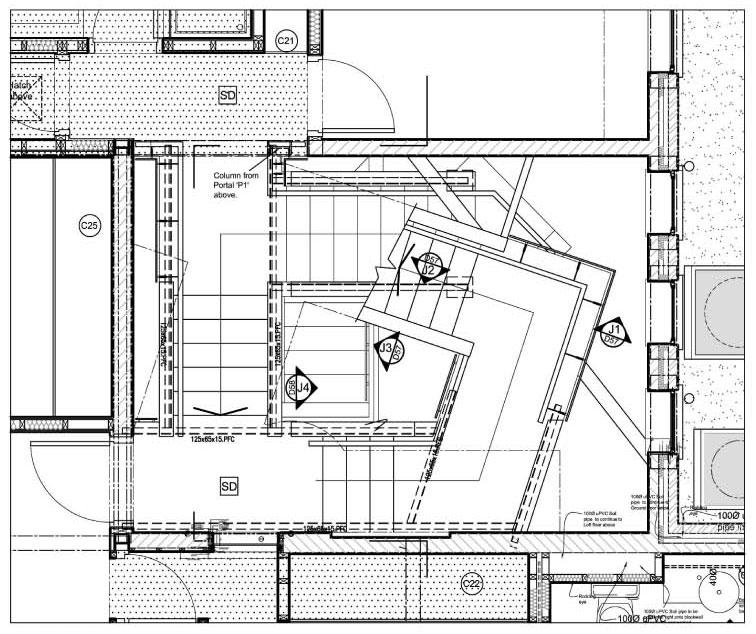 Detalle escalera acescaleras ejemplos de escaleras for Planos de escaleras en u