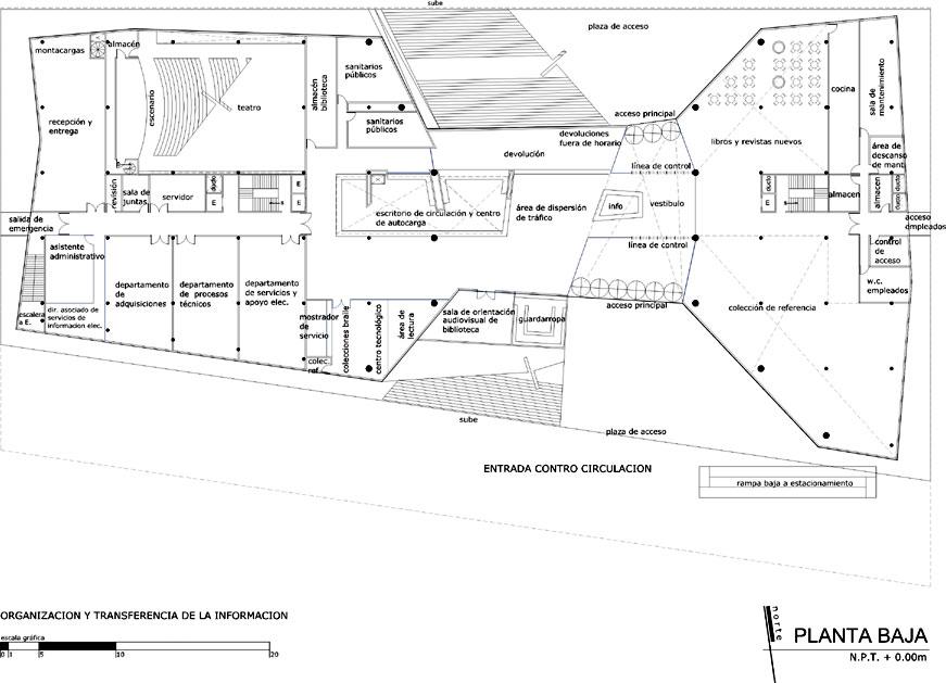 Proyecto proyecto para biblioteca for Planta arquitectonica biblioteca