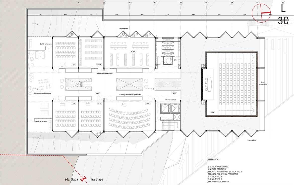 Proyecto proyecto para campus for Aulas web arquitectura