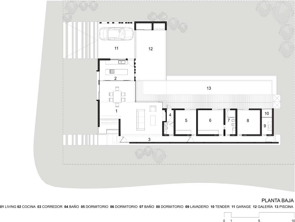 Proyecto vivienda unifamiliar en country n utico la bah a pueblo esther - Fotos de casas en forma de l ...