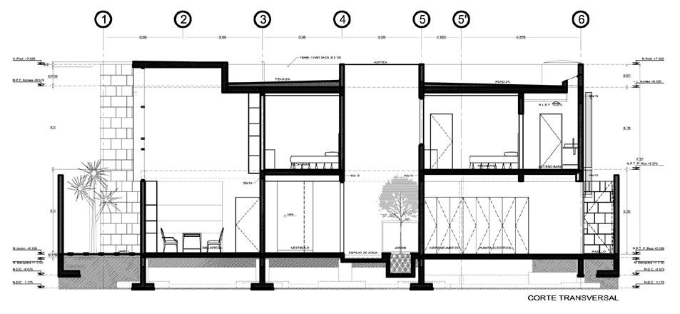 Proyecto casa el secreto for Cortes arquitectonicos