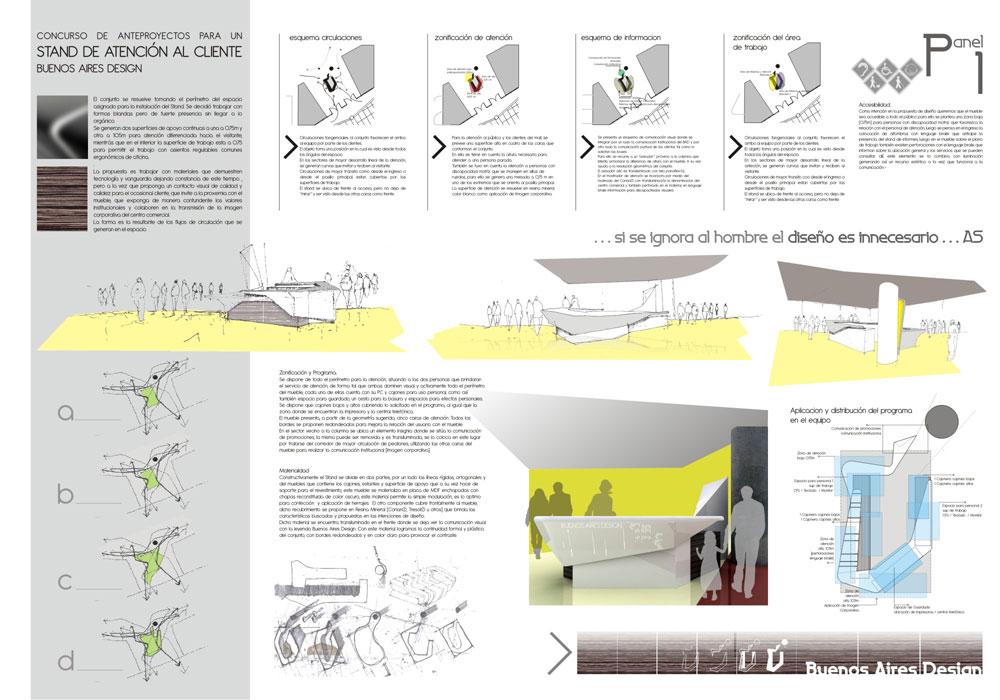 Proyecto proyecto stand de atenci n for Que es diseno en arquitectura