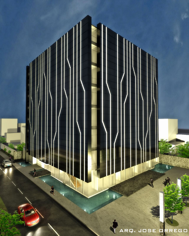Proyecto edificio corporativo ayasha for Diseno de edificios