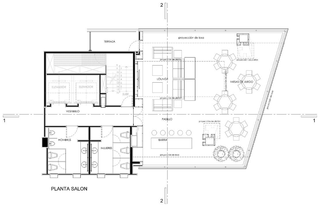Proyecto areas comunes del conjunto residencial sky view ciudad de m xico - Planta de salon ...