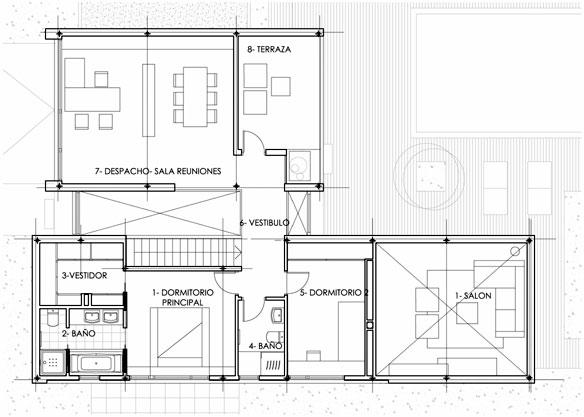 Proyecto vivienda unifamiliar en for Arquitectura planos y disenos