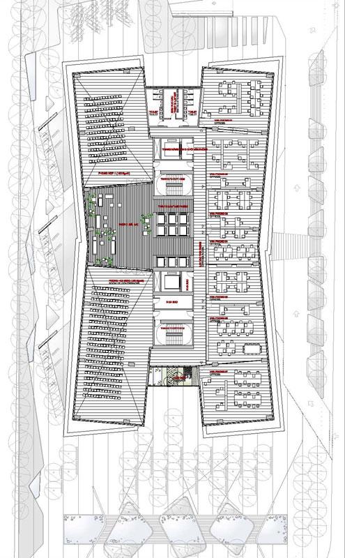 Proyecto hei tower edificio en for Plantas de oficinas arquitectura