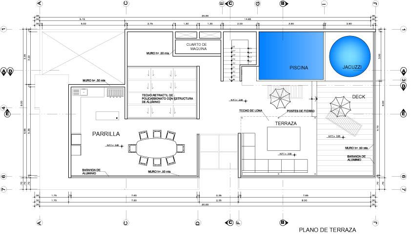 Planos De Casas Con Piscina Elegant Cool Planta Nivel