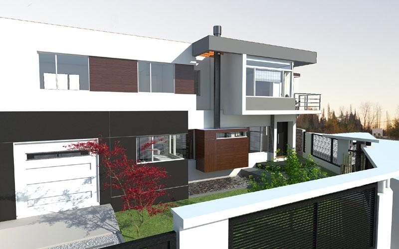 Proyecto casa fc centenario pcia for Disenos de casas en esquinas