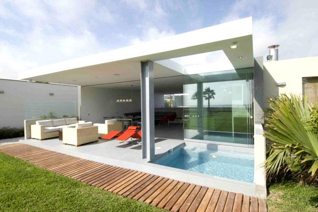 Proyecto casa en playa la isla asia for Fotos de casas modernas en lima peru