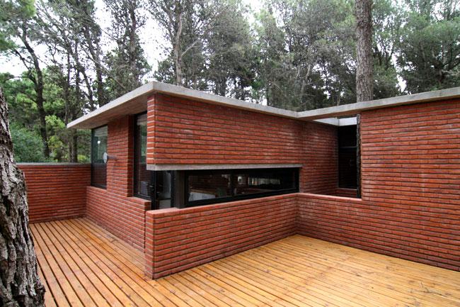 Proyecto casa de ladrillo en el for Casas modernas ladrillo