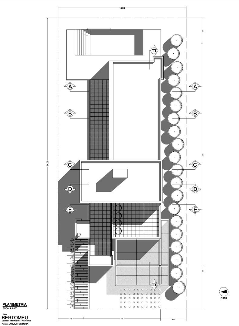 Proyecto casa bertomeu villa for Plantas de arquitectura