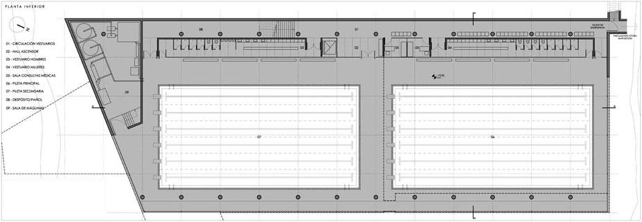 Proyecto concurso polo deportivo for Planos de piletas de material
