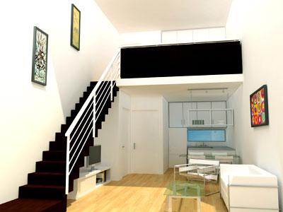 Proyecto atv 09 gorriti 6015 for Casas con escaleras por dentro