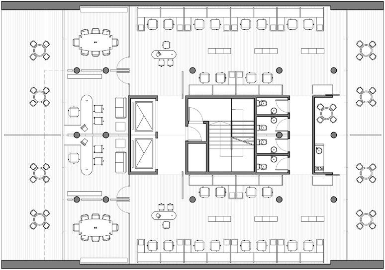Proyecto atv10 business center for Oficinas planta arquitectonica