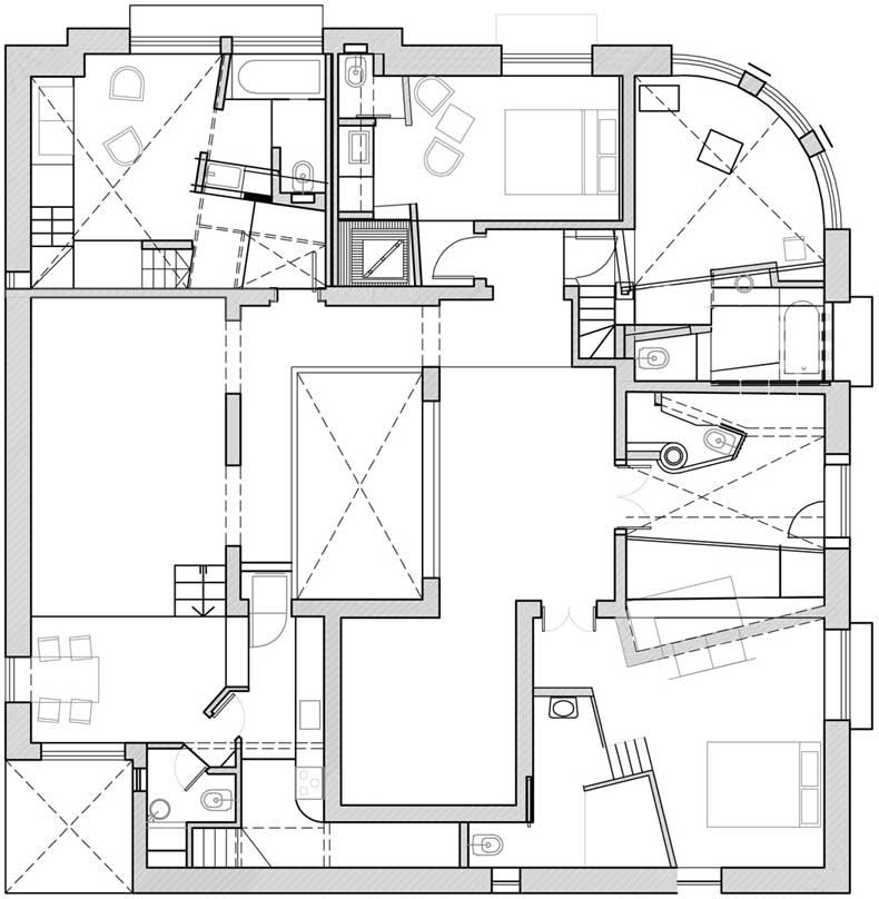 Proyecto hotel boutique bonito for Plantas de arquitectura