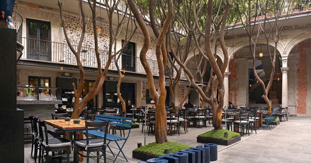 Restaurante azul hist rico kababie arquitectos arquimaster for Restaurante arquitectura