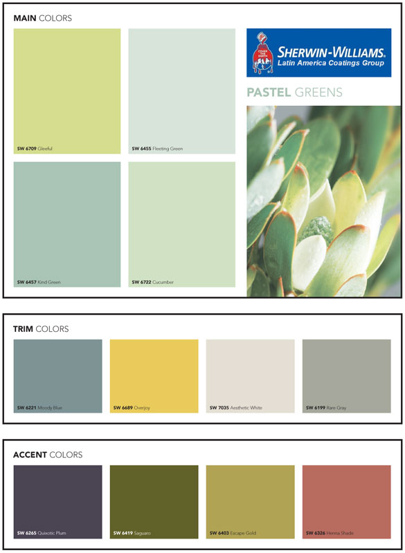 Pinturas sherwin williams carta de colores imagui - Paleta de colores verdes ...