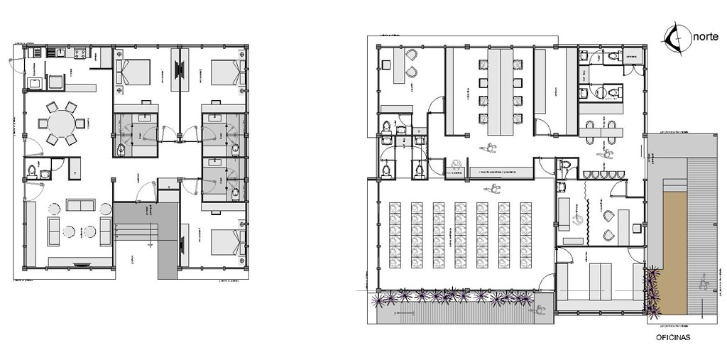 Oficinas y casa de campo fesa campo sayula ggh for Planta arquitectonica de una oficina