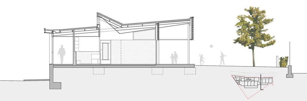 Guarder a municipal la baldufa onl arquitectura for Arquitectura nota de corte