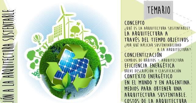 Curso introduccion a la arquitectura sustentable arquimaster for Aulas web arquitectura