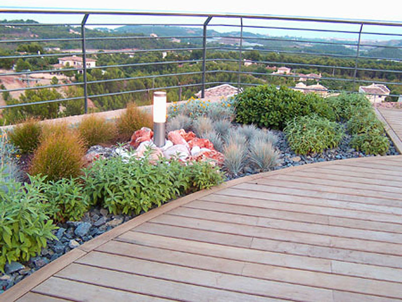 Diseo de pasarelas para las terrazas jardn Arquimaster