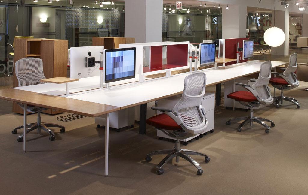 Interieur forma presenta el sistema antenna workspaces de for Bureau knoll