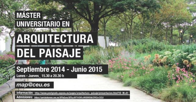 Master universitario en arquitectura del paisaje map for Arquitectura del paisaje