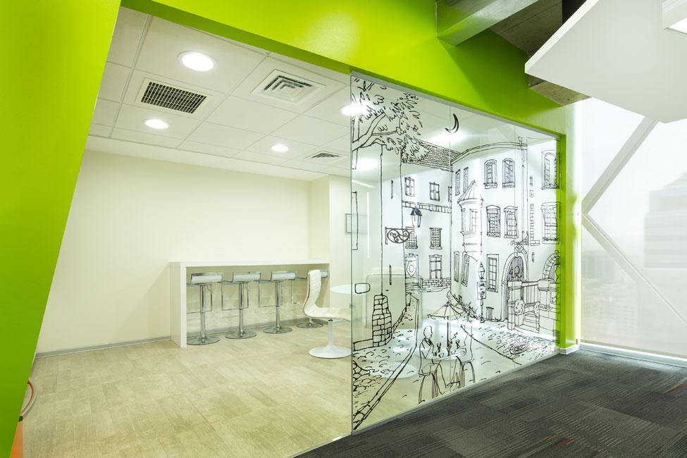 Ambientes de trabajo estimulantes arte en la oficina - Oficinas de arquitectura ...