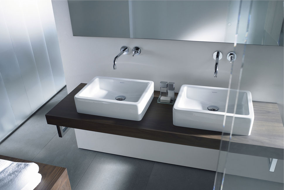Lavabo doble de duravit arquimaster for Lavabo doble