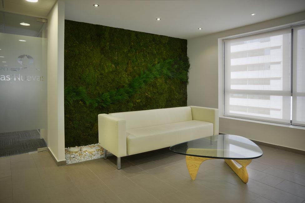 Jardines verticales entornos de trabajo m s naturales for Jardines de pared para interiores