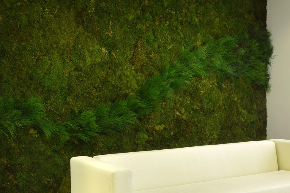 Oficina publica saludable jardines verticales entornos for Muros verdes naturales