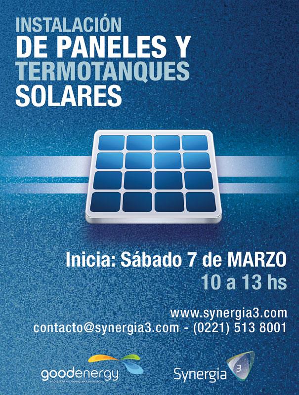 Curso Instalaci 243 N De Paneles Y Termotanques Solares