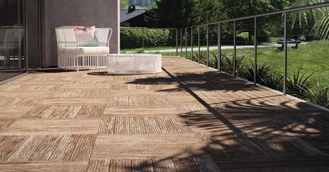 Ceramica exterior imitacion madera top baldosa de exterior de suelo de gres porcelnico con - Imitacion madera exterior ...